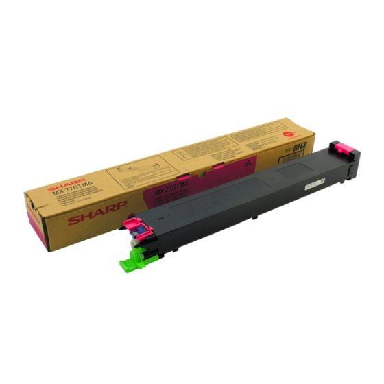 Sharp MX27GTMA Toner Copier Magenta  - 15k Pgs