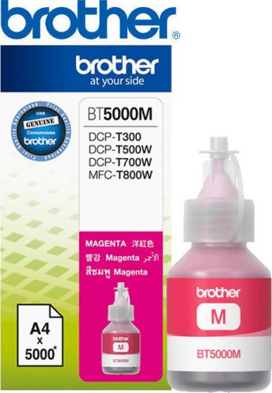 BROTHER BT5000M MAGENTA INK BOTTLE 5K