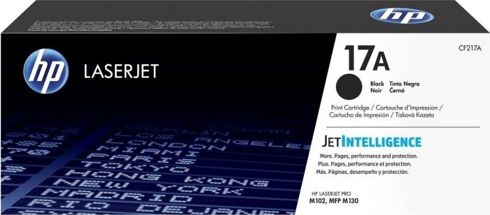 HP 17A black crtr 1.6 k pgs CF217A M102 M130