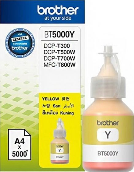 BROTHER BT5000Y YELLOW INK BOTTLE 5K